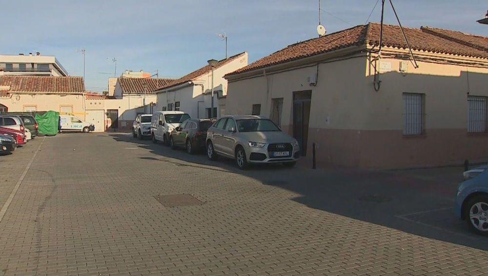 La calle donde fue hallado el taxista
